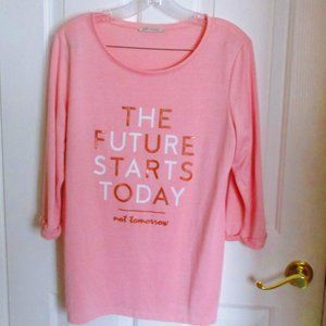 The Future Starts Today Long Sleeved Top XL